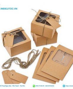 hộp đựng bánh bằng giấy kraft
