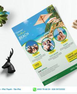 mẫu tờ rơi giảm giá du lịch mùa hè