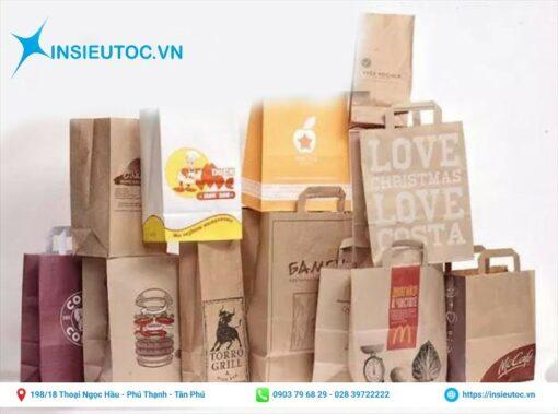 Một số mẫu in túi giấy thực phẩm