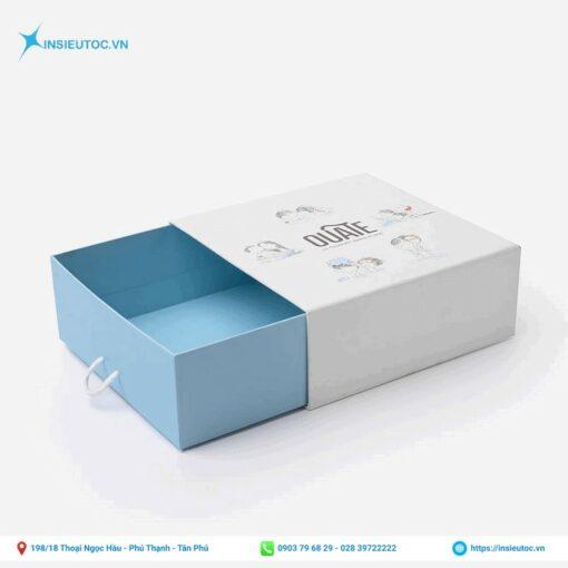 Mẫu hộp giấy dạng kéo đơn giản