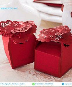Hộp giấy đựng quà cưới nhỏ xinh