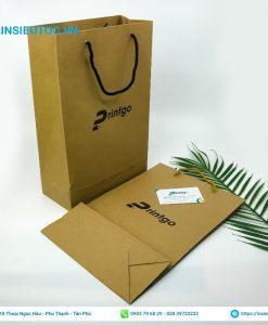 Túi giấy kraft in chữ