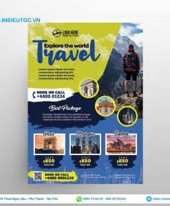 Phối màu mẫu thiết kế tour du lịch