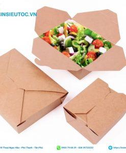 Mẫu hộp giấy dạng gấp đựng đồ ăn