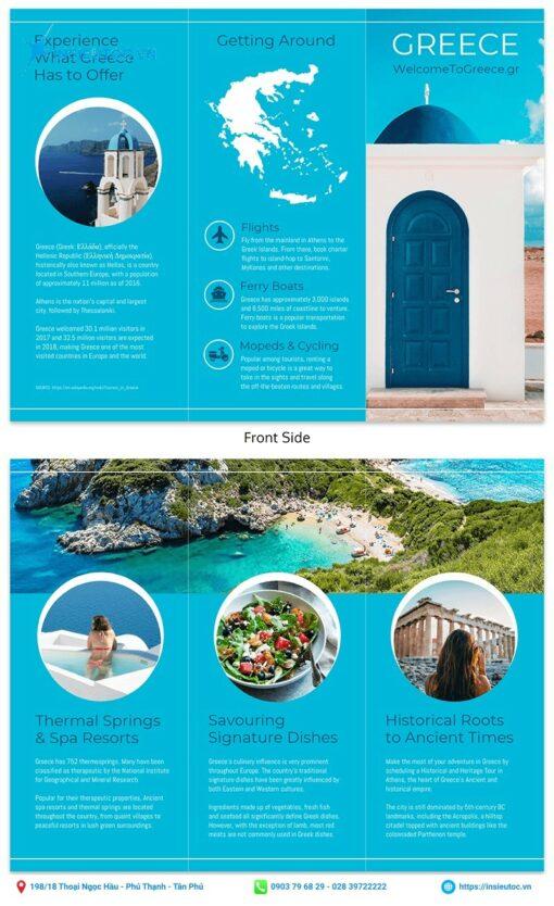 thiết kế tập gấp du lịch