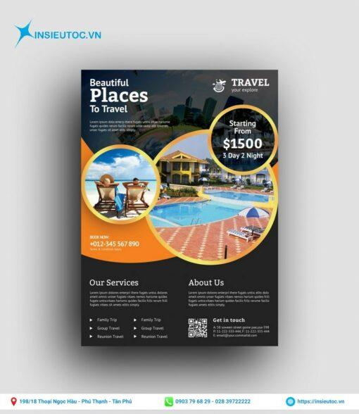 thiết kế và in tờ rơi du lịch