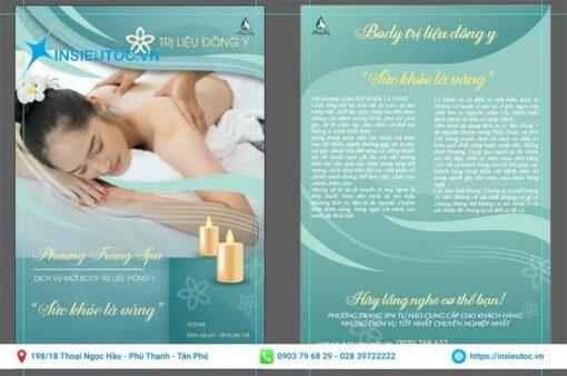 tờ quảng cáo spa