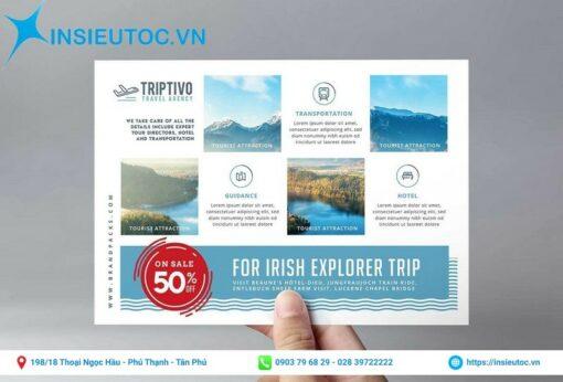 tờ rơi của công ty du lịch triptivo