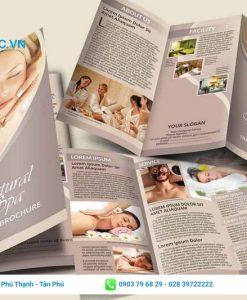 tờ rơi quảng cáo dịch vụ spa chăm sóc thân thể