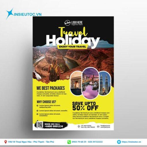 tờ rơi travel holiday