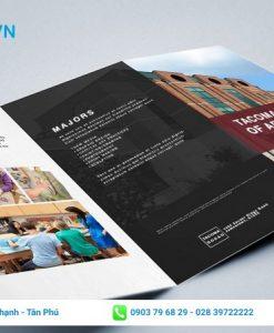 tờ rơi tuyển sinh trường thiết kế và nghệ thuật tacoma