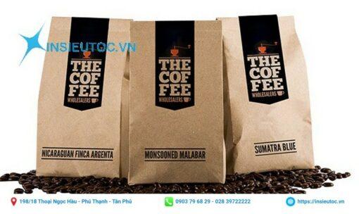 Túi đựng cafe, túi đựng cafe dạng bột và dạng hạt