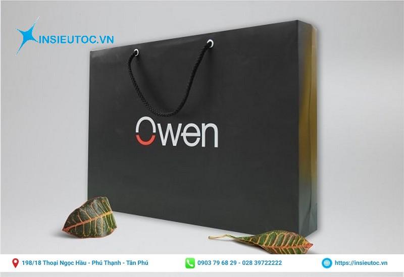 Túi giấy thương hiệu thời trang nam