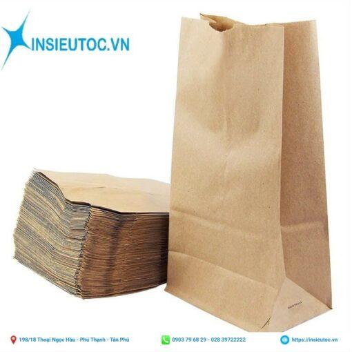 túi giấy kraft đựng bánh mì có sẵn không in