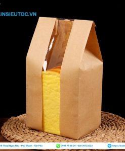 Túi giấy kraft trơn đựng bánh mì sandwich