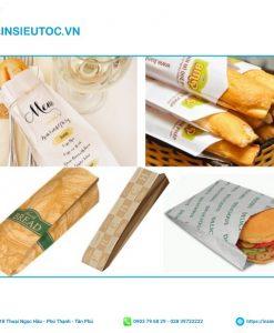 Mẫu túi giấy đựng bánh mì phổ biến