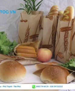 Mẫu túi giấy bánh mì đẹp, đơn giản