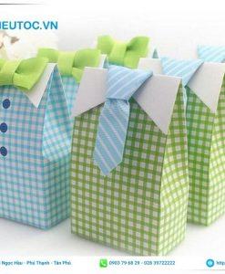mẫu túi giấy nắp gập phong cách thiết kế đẹp