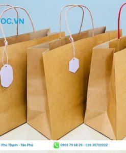 Túi giấy kraft đựng quà trơn giá sỉ tphcm
