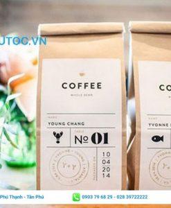 Có thể sử dụng túi giấy kraft đựng cafe