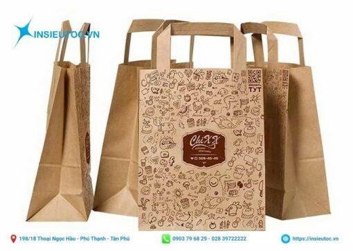 Túi giấy kraft sử dụng quai bản to bằng giấy