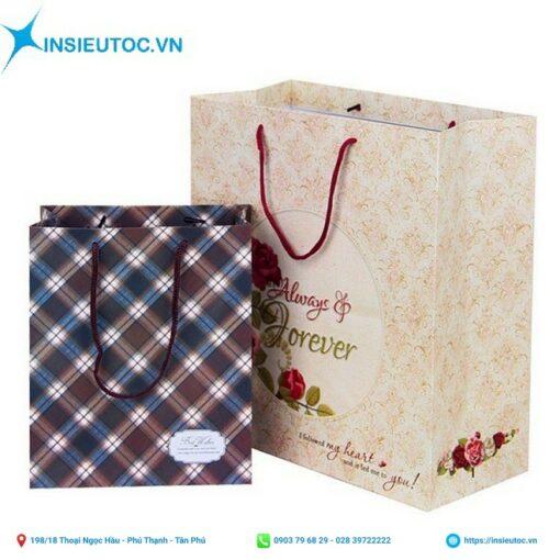 bán túi giấy đựng quà in hoa văn