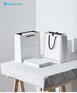 Túi giấy nền trắng