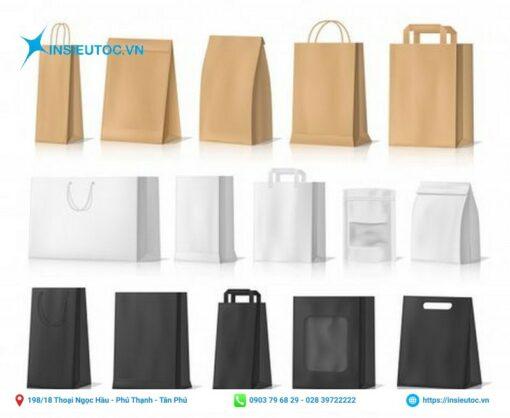 kích thước in túi xi măng đa dạng, nhiều kiểu dáng