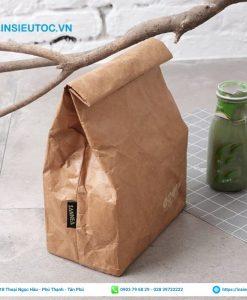túi giấy xi măng dạng gấp đơn giản