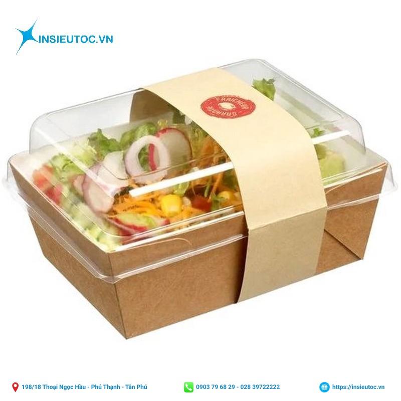 in ấn hộp giấy đựng thức ăn