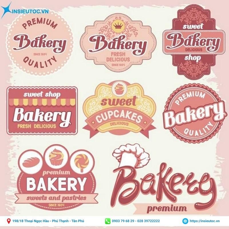 mẫu sticker decal logo cho tiệm bánh