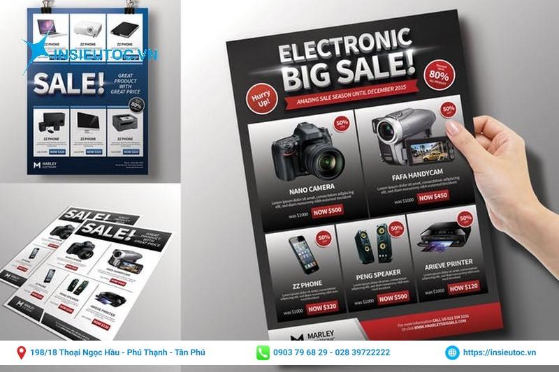 tờ rơi quảng cáo sản phẩm camera máy ảnh