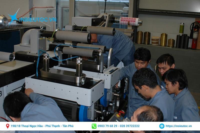Đội ngũ in ấn được đào tạo chuyên nghiệp
