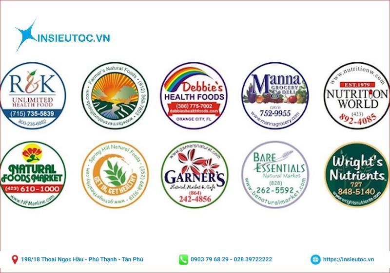 logo công ty được in chất liệu bền