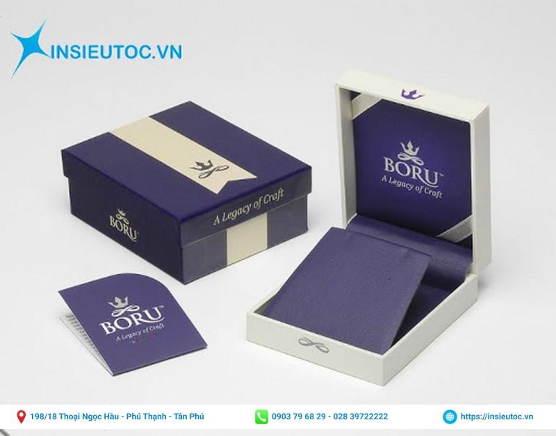 mẫu in nhãn cho hộp giấy sang trọng