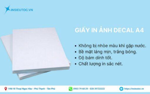 giấy in decal kích thước a4