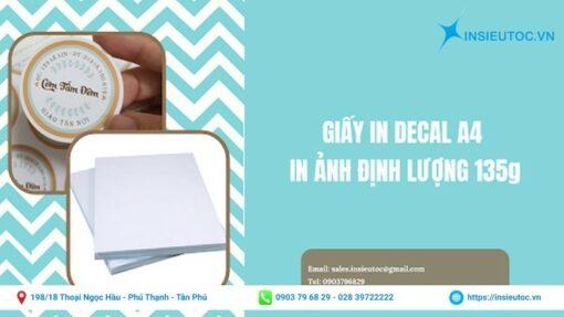 In Siêu Tốc - cung cấp giấy in decal chất lượng