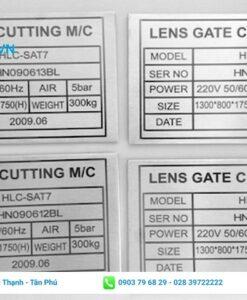 tem xi bạc dán bảo hành sản phẩm