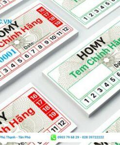 mẫu tem giấy bảo hành
