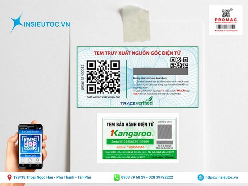 tem bảo hành hiện đại